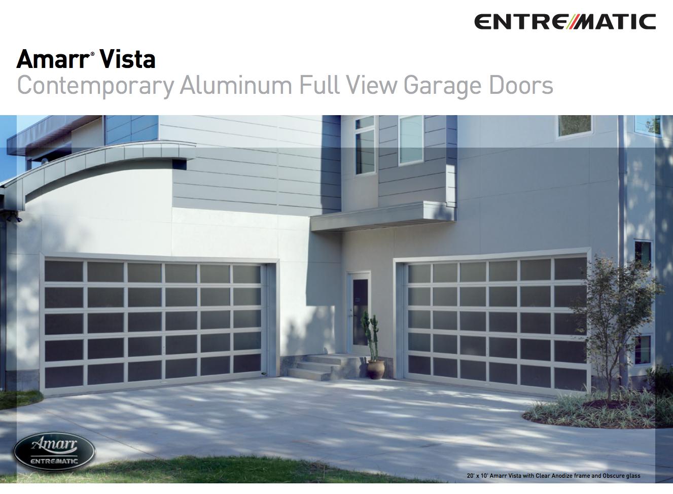 Amarr Vista Contemporary Aluminum Full View Garage Doors
