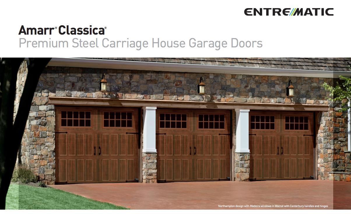Amarr Classica Premium Steel Carriage House Garage Doors